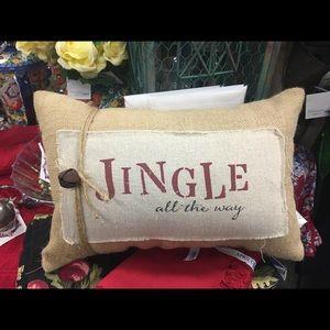"""8x12"""" Burlap Jingle all the way Pillow"""
